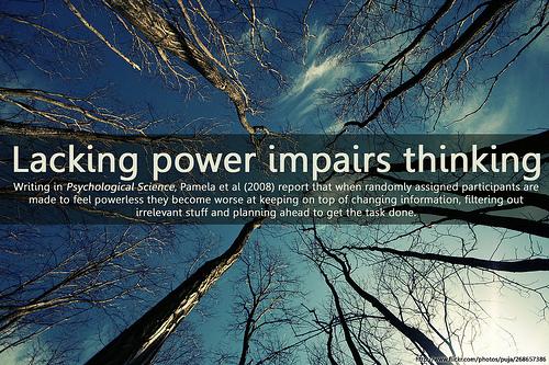 LackingPowerImpairsThinking
